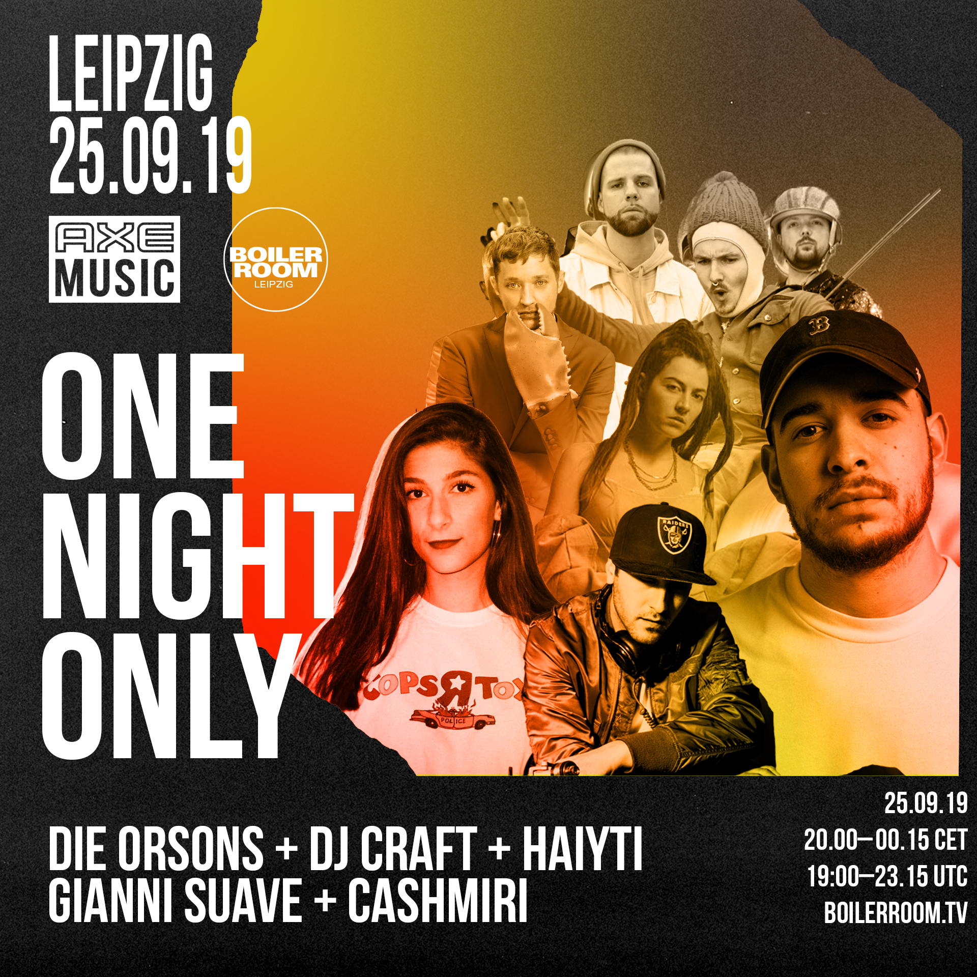 AXE Music | One Night Only Leipzig Flyer Image