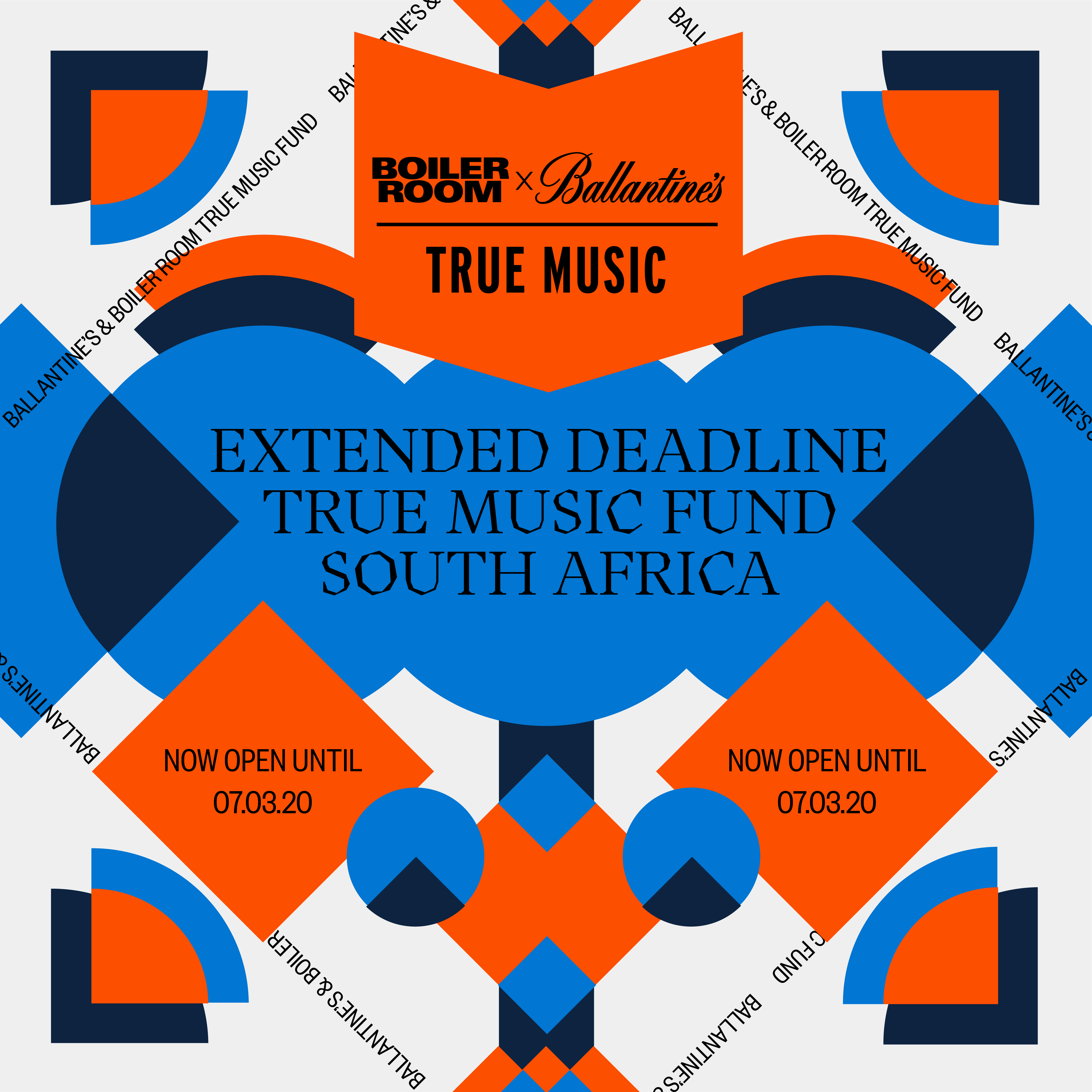 NOW CLOSED: Boiler Room x Ballantine's True Music Fund: South Africa Flyer Image
