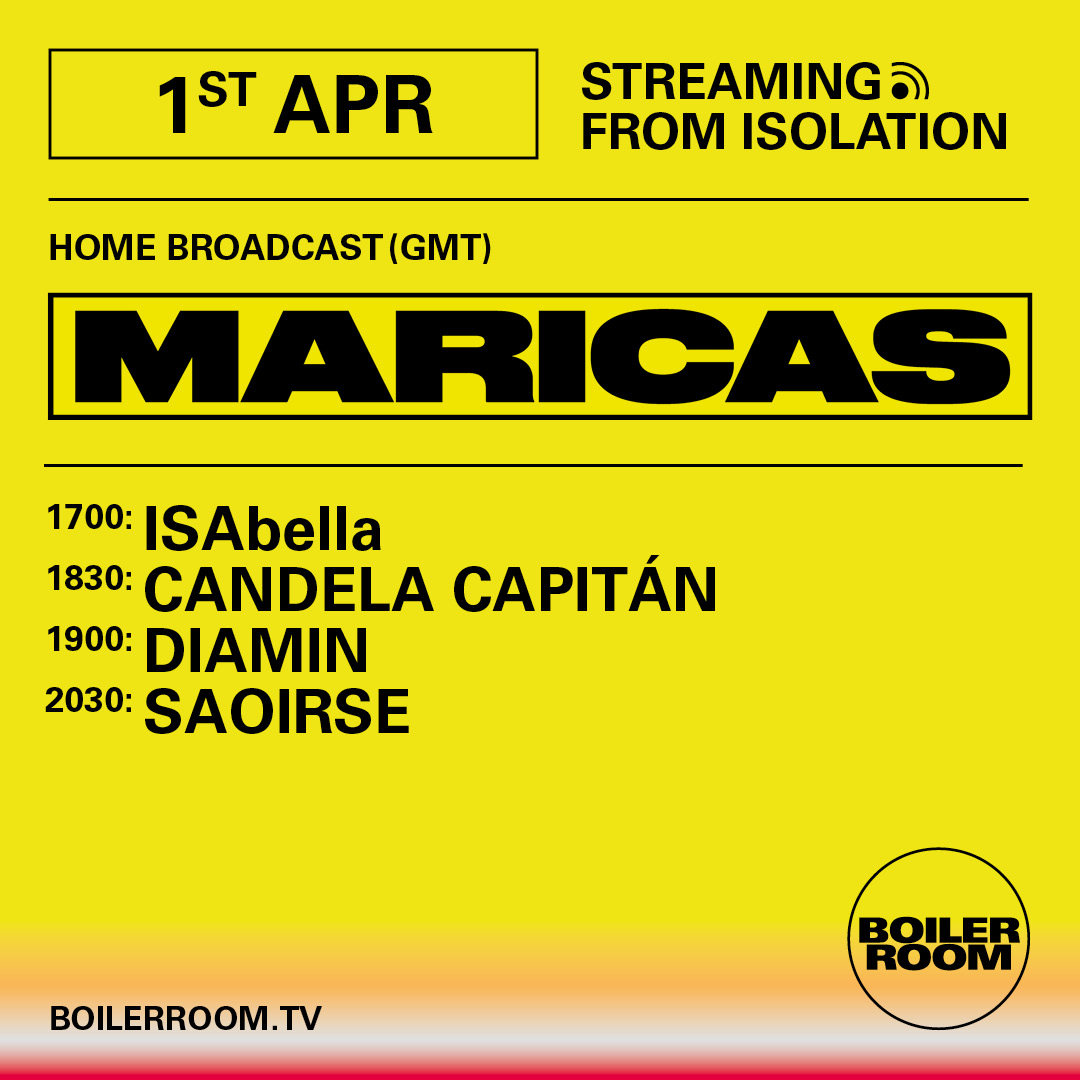 Streaming From Isolation with Maricas Flyer Image