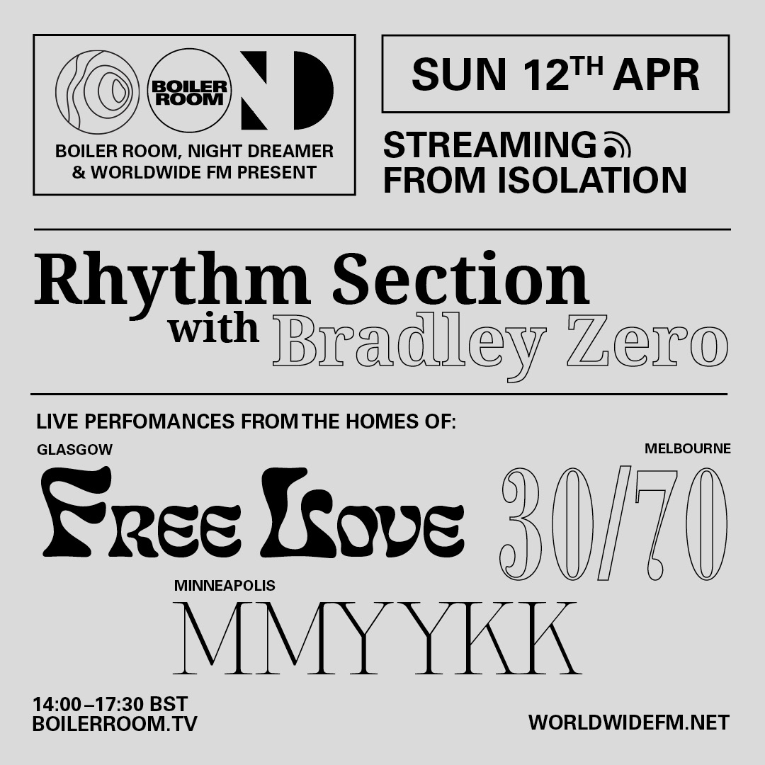 Streaming From Isolation with Night Dreamer & Worldwide FM: Rhythm Section Flyer Image