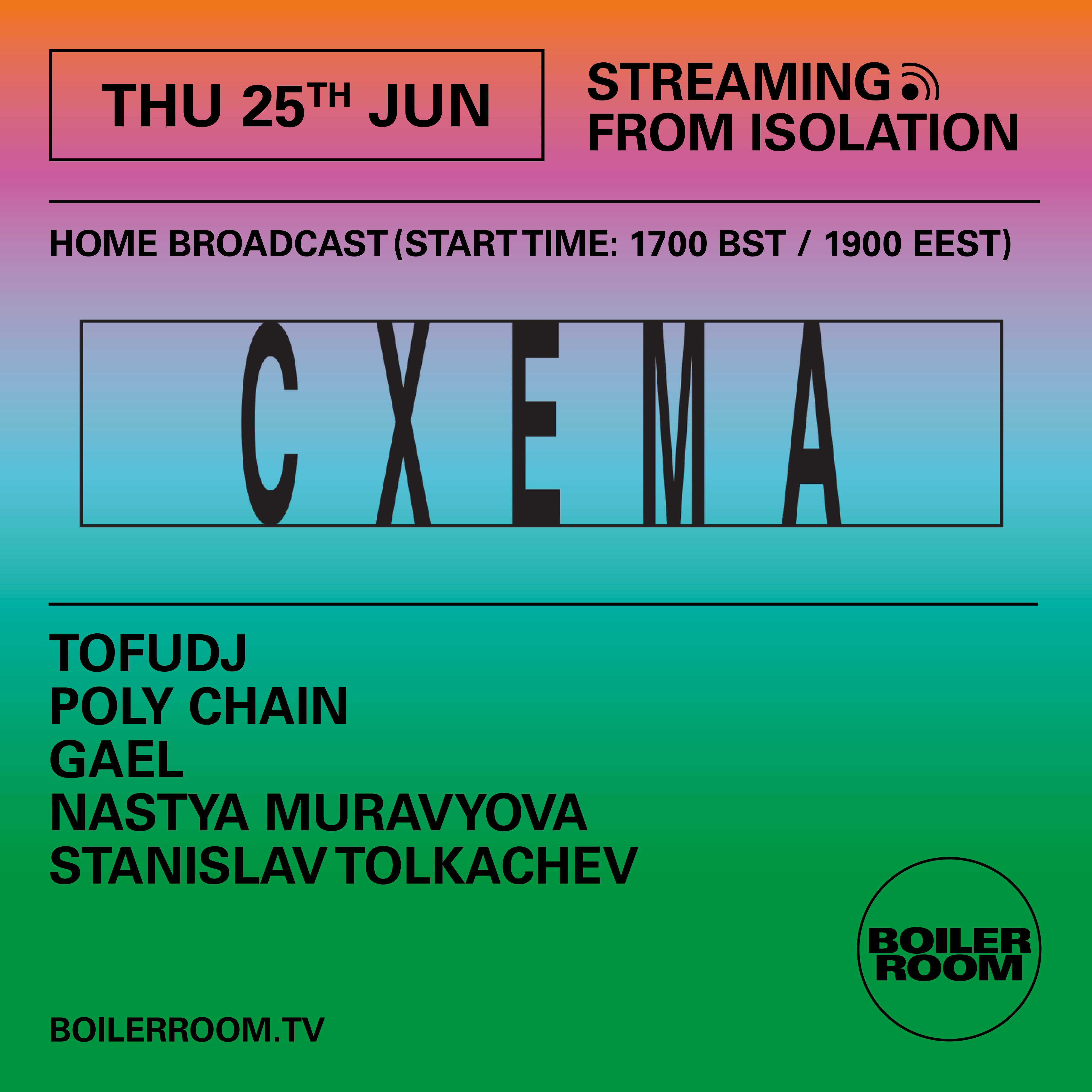Streaming From Isolation with Cxema Flyer Image