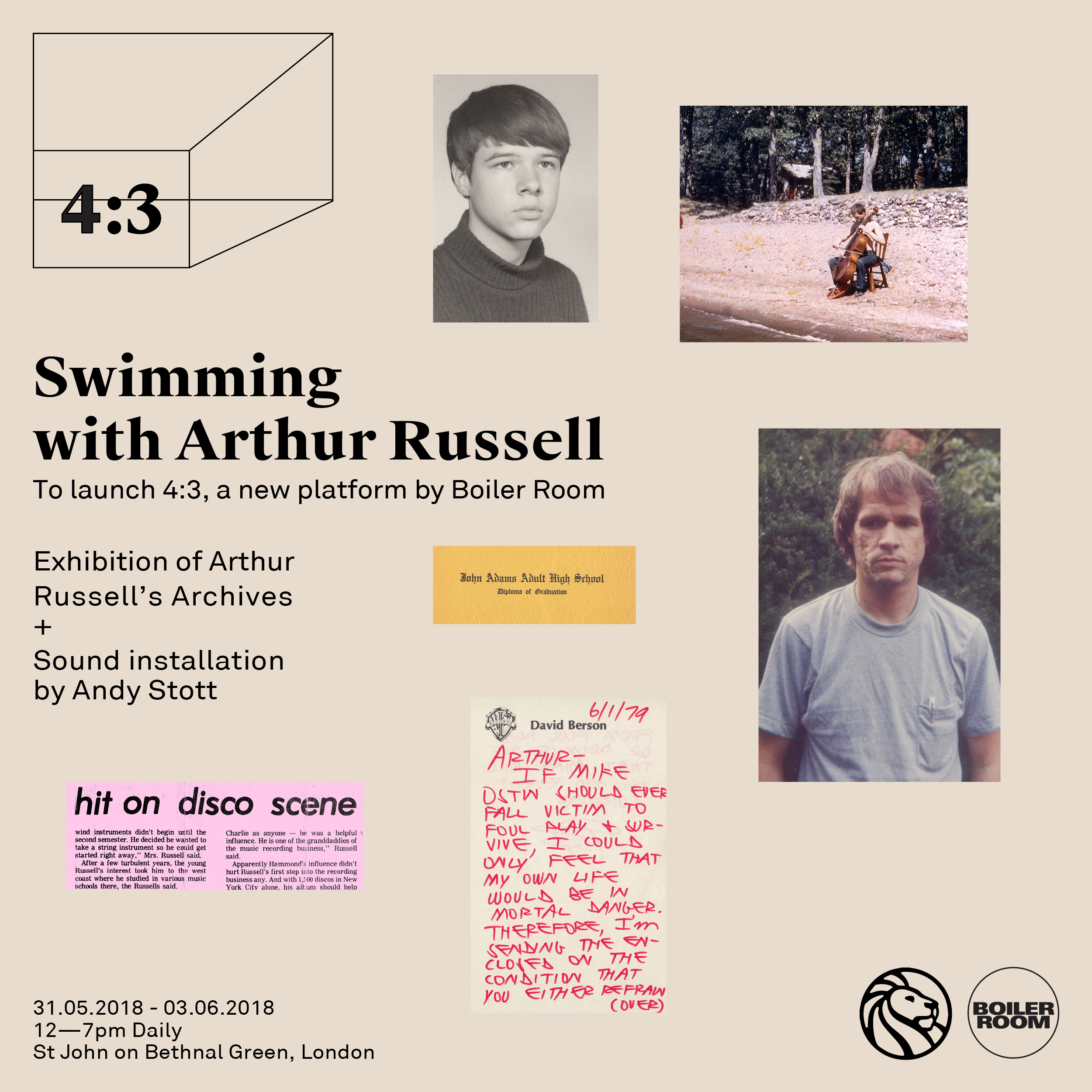 Swimming with Arthur Russell - Exhibition Flyer Image