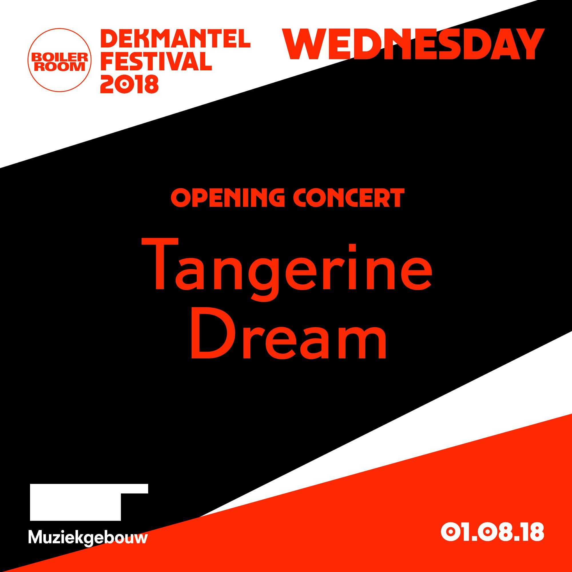 Dekmantel Opening Concert: Tangerine Dream Flyer Image