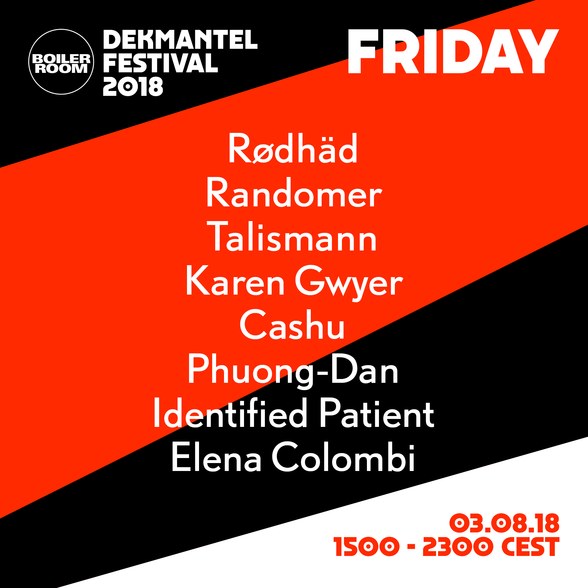 Dekmantel 2018 Friday Flyer Image