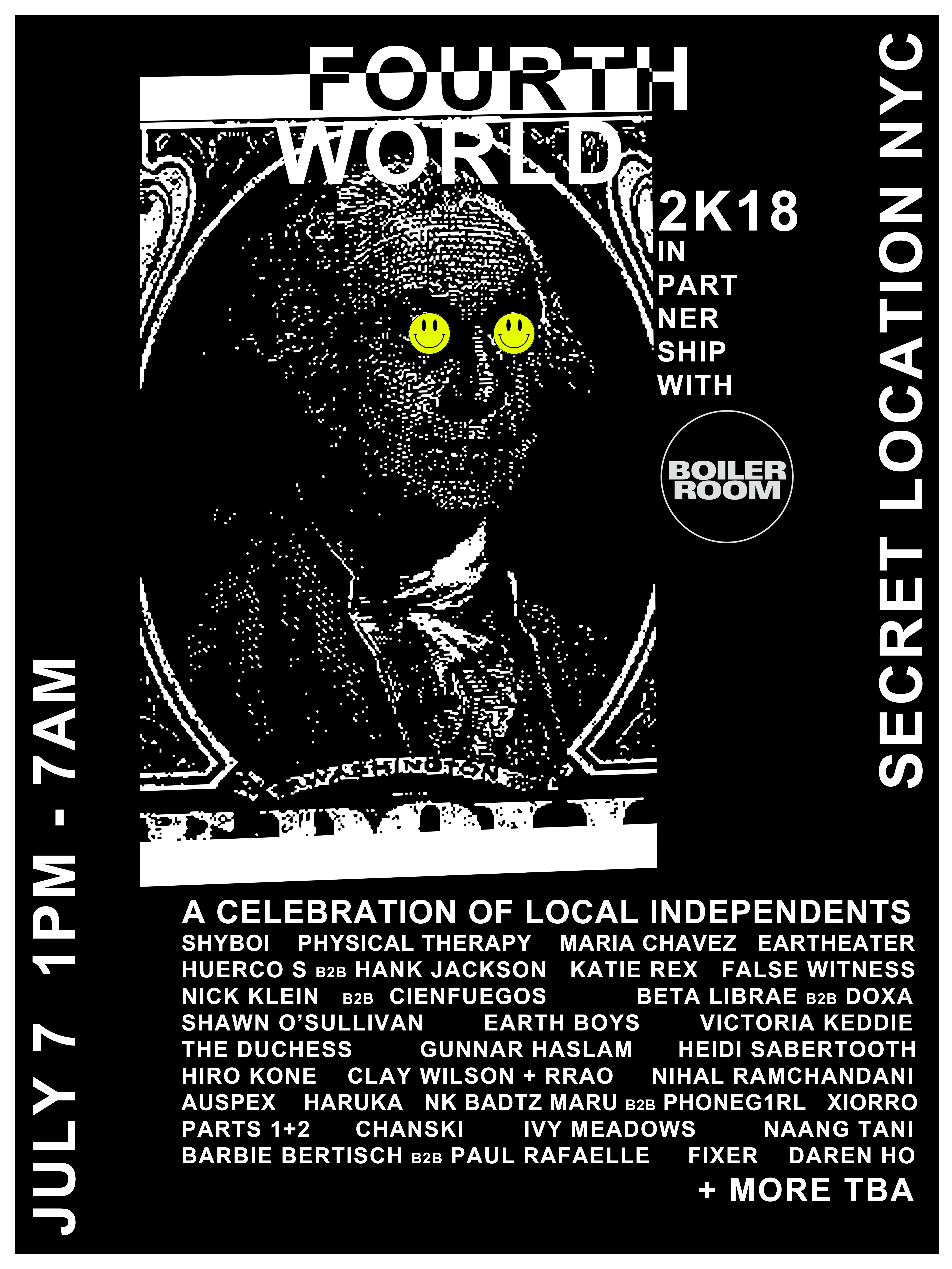Fourth World 2K18 Flyer Image