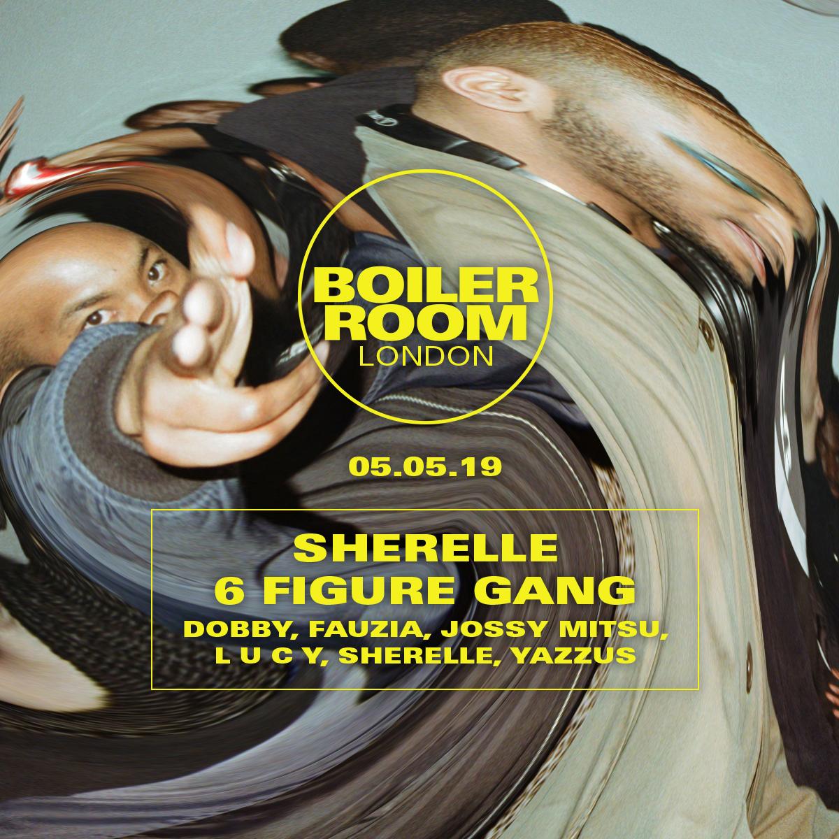 London: Sherelle + 6 Figure Gang Flyer Image